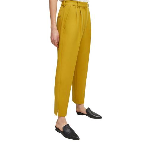 French Connection Mustard Alido Sundae Tapered Trousers