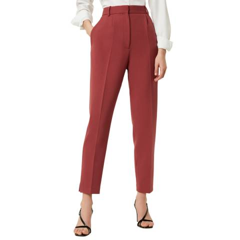 French Connection Soft Red Alido Sundae Tapered Trousers