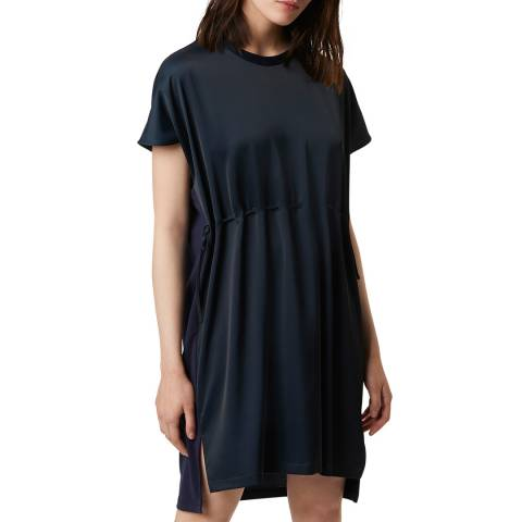 French Connection Midnight Tamina Satin Mix Dress