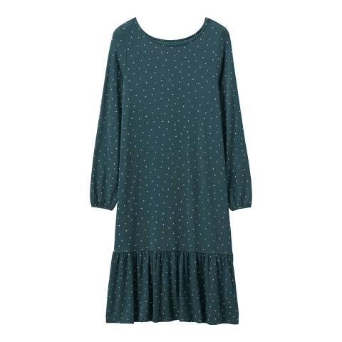 Crew Clothing Green Long Sleeve Peplum Dress