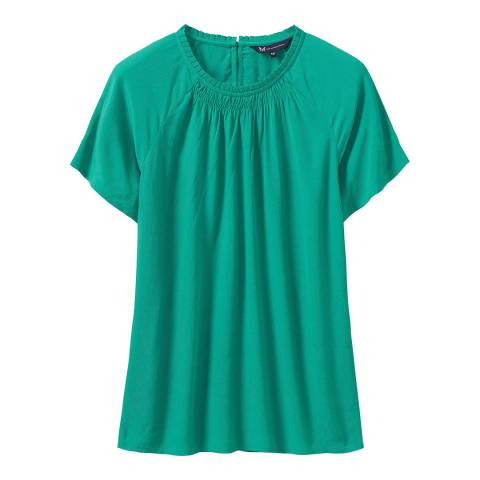 Crew Clothing Green Frankie Top