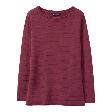 Crew Clothing Red Salcombe Jumper