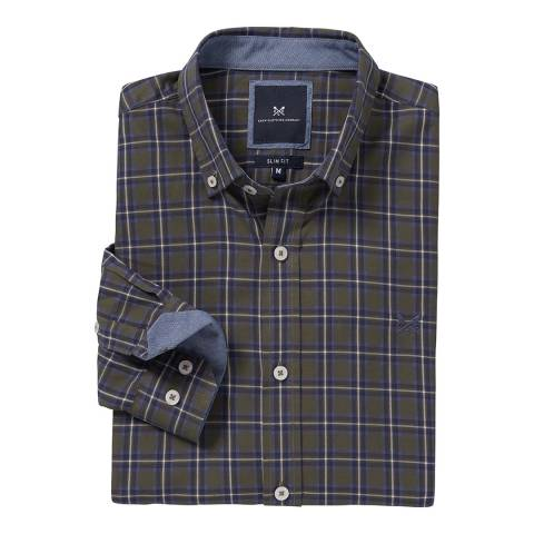 Crew Clothing Dark Grey Multi Stripe Castleshaw Shirt