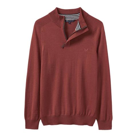 Crew Clothing Red Netheron 1/2 Zip Jumper