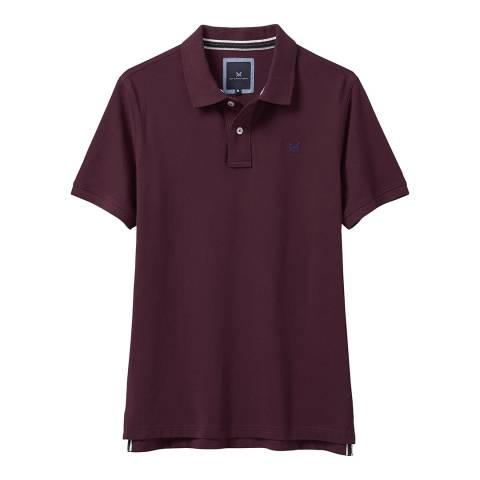 Crew Clothing Dark Red Classic Pique Polo