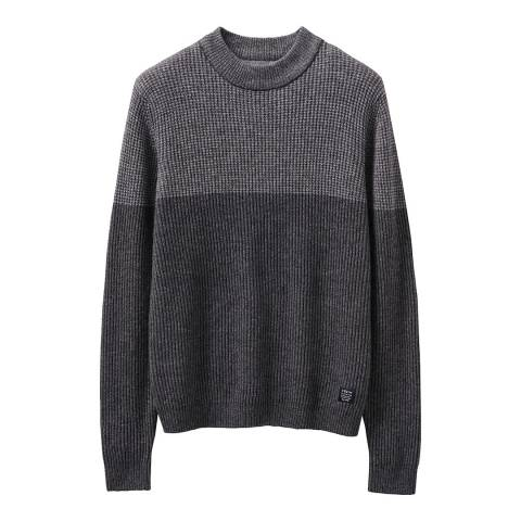 Crew Clothing Charcoal Knighton Funnel Neck Jumper