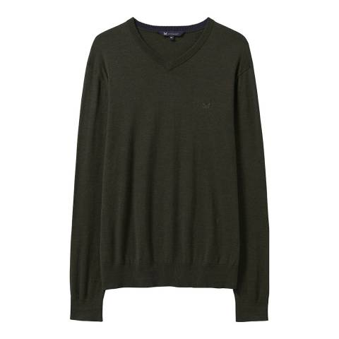 Crew Clothing Green Heathered Jumper