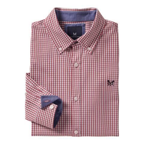 Crew Clothing Red Arlington Classic Shirt
