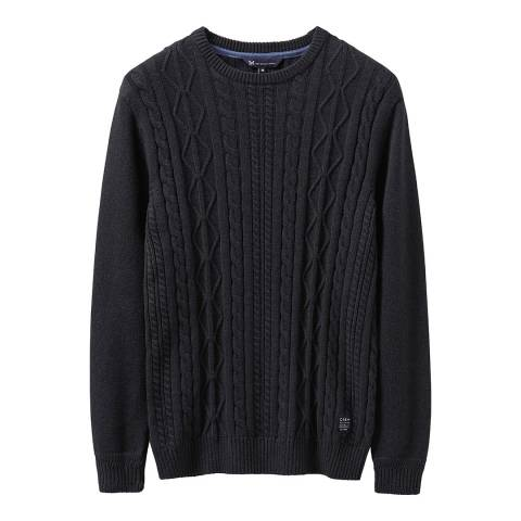 Crew Clothing Charcoal Northam Cable Jumper