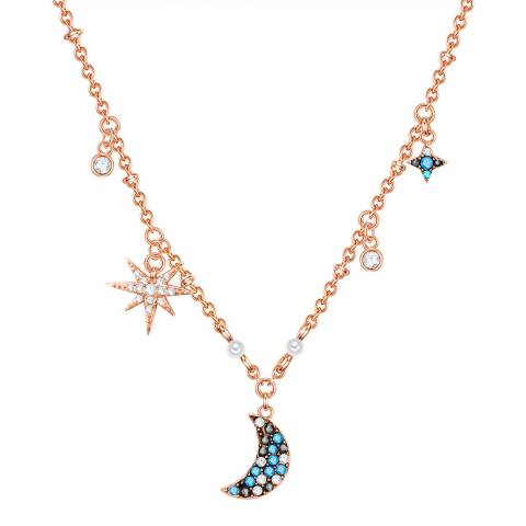 Glamcode Rose Gold Necklace with Swarovski Crystals