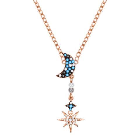 Glamcode Rose Gold Necklace with Swarovski Crystals