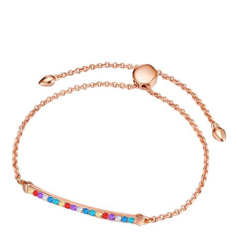 Glamcode Rose Gold Anchor Bracelet with Swarovski Crystals