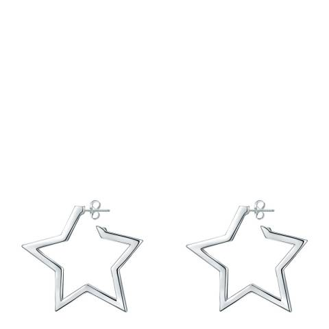 Glamcode Silver Stud Earrings with Swarovski Crystals