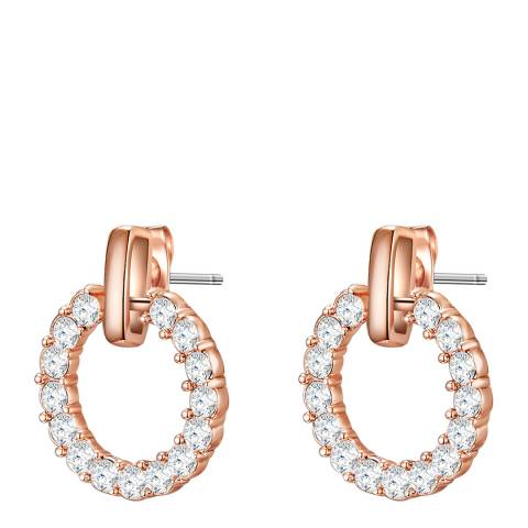 Glamcode Rose Gold Stud Earrings with Swarovski Crystals