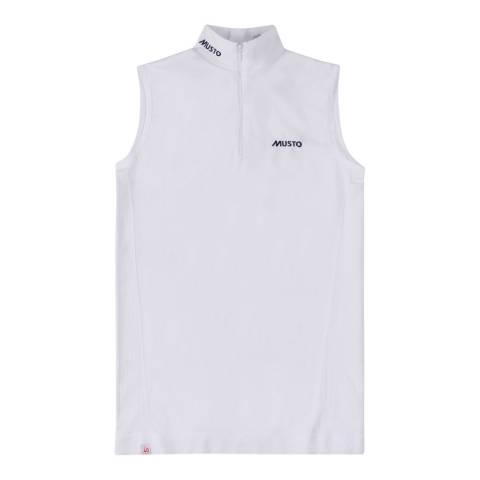 Musto White Perf Short Sleeve Shirt