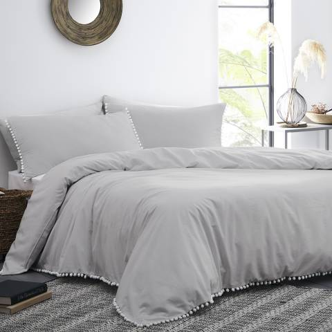 N°· Eleven Lynton Double Duvet Cover Sets, Silver