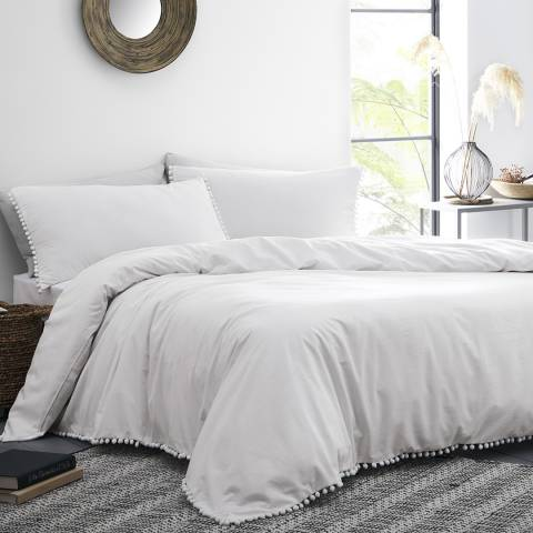 N°· Eleven Lynton King Duvet Cover Set, White