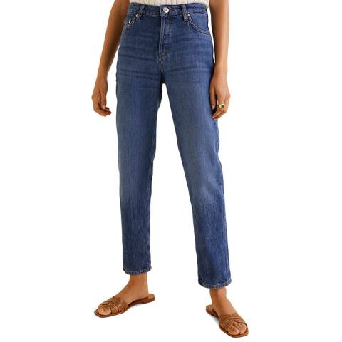 Mango Dark Blue Relaxed Jeans