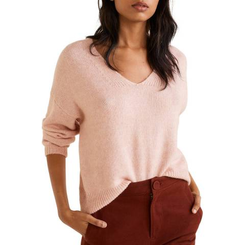 Mango Light Pink Recycled Polyester Sweater