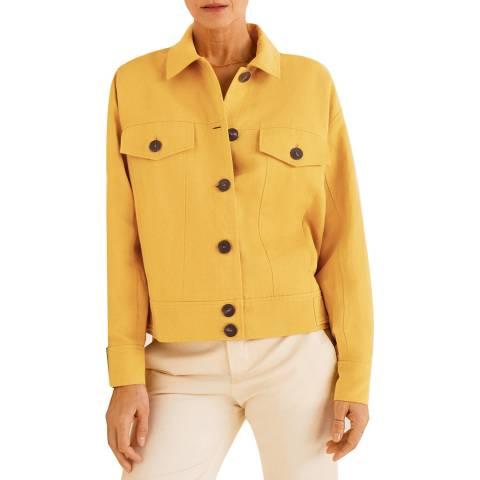 Mango Curry Buttons Linen-Blend Jacket