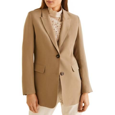 Mango Khaki Tortoiseshell Buttons Jacket