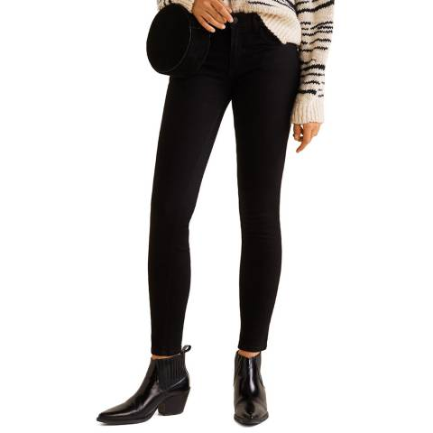 Mango Black Denim Kim Skinny Push-Up Jeans