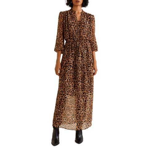 Mango Brown Leopard Gown