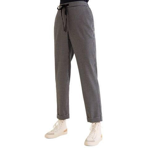 Mango Dark Navy Elastic Waist Pants