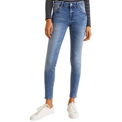 Mango Medium Blue Kim Skinny Push-Up Jeans