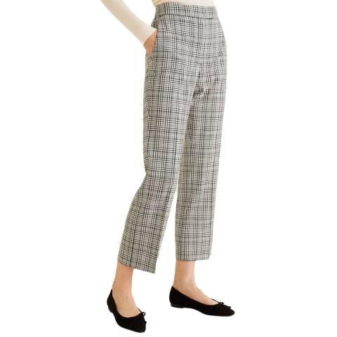 Mango Black Plaid Trousers