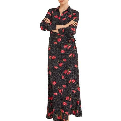 Mango Black Flower Print Dress