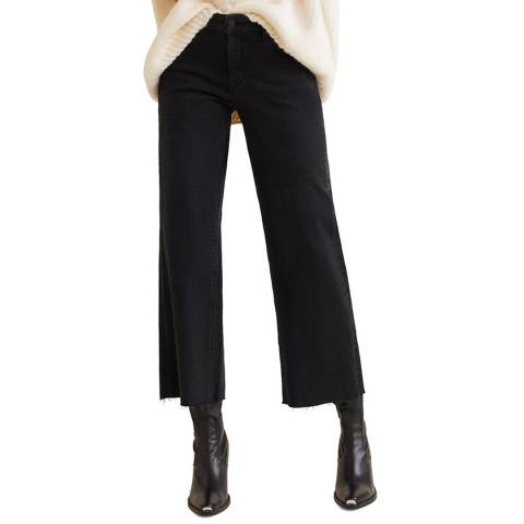 Mango Black Denim Crop Audrey Jeans