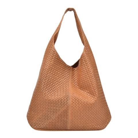 Mangotti Bags Cognac Leather Shoulder Bag