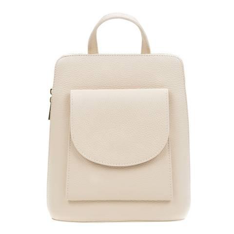 Mangotti Bags Beige Leather Backpack