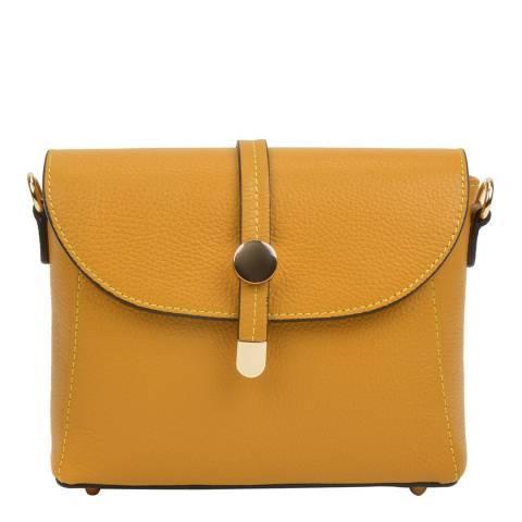 Mangotti Bags Yellow Leather Crossbody Bag