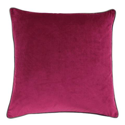 Riva Home Cranberry/Moss Meridian Cushion 55x55cm