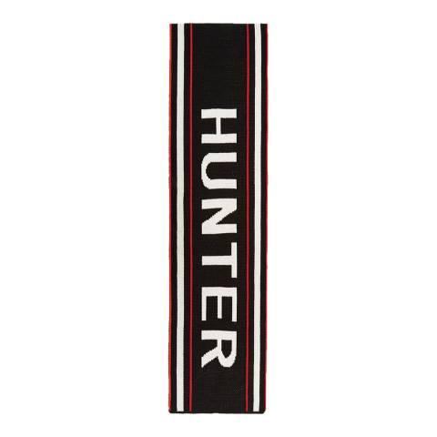Hunter Black Red Logo Scarf