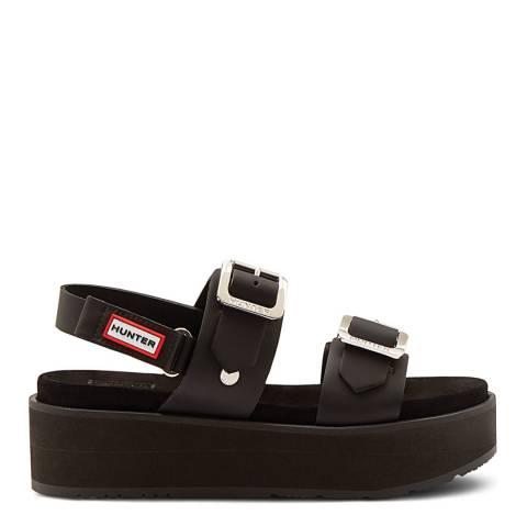 Hunter Black Original Flatform Sandals