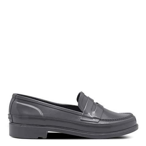 Hunter Grey Gloss Refined Penny Loafers