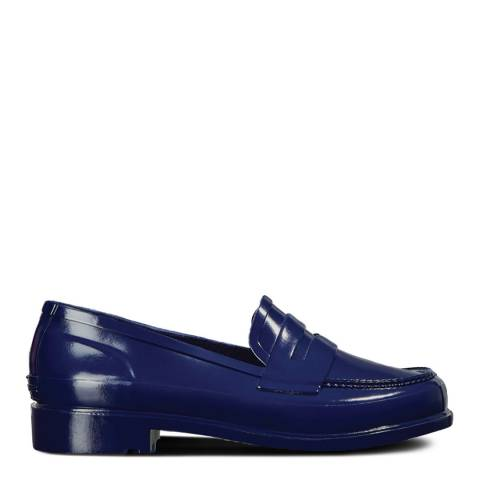 Hunter Navy Gloss Refined Penny Loafers