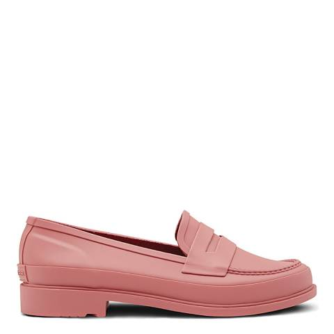 Hunter Pink Matte Refined Penny Loafers