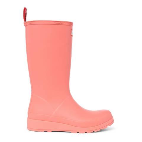 Hunter Pink Matte Original Play Tall Wellington Boots