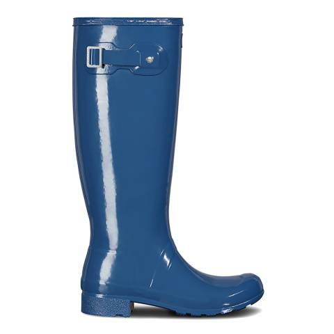 Hunter Blue Gloss Original Tour Wellington Boots