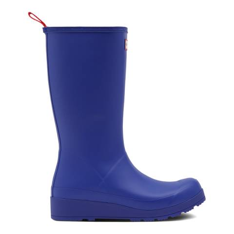 Hunter Electric Blue Matte Original Play Tall Wellington Boots