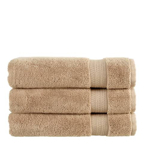 Christy Tempo Pair of Hand Towels, Pebble