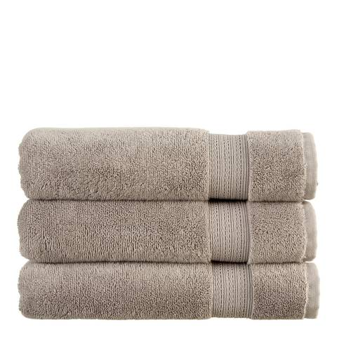 Christy Tempo Pair of Hand Towels, Silver