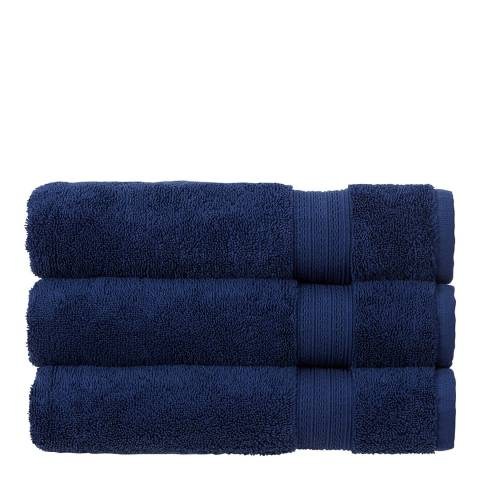 Christy Tempo Pair of Hand Towels, Navy
