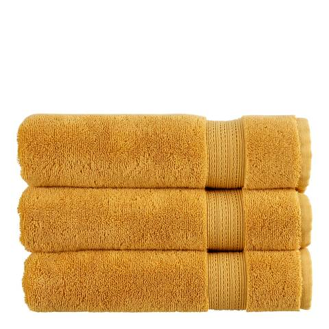 Christy Tempo Pair of Hand Towels, Ochre