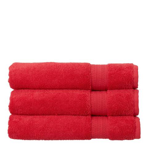 Christy Tempo Bath Sheet, Carmine