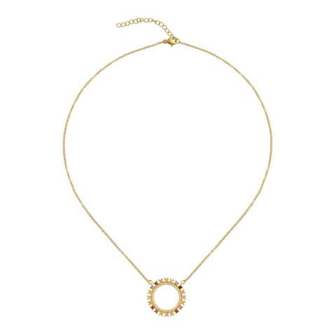 Liv Oliver 18K Gold Multi Colour Eternity Necklace
